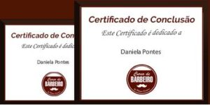Certificado do Curso de Babrbeiro